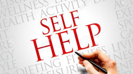 Self Help word cloud, health concept